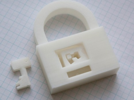 3d printed lock and key