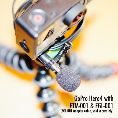 Best external microphone for GoPro Hero4 with EGL-001