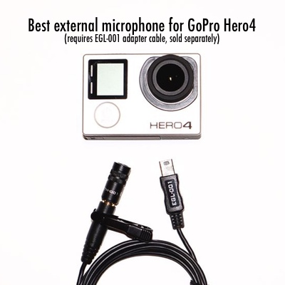 Best external microphone for GoPro with EGL-001