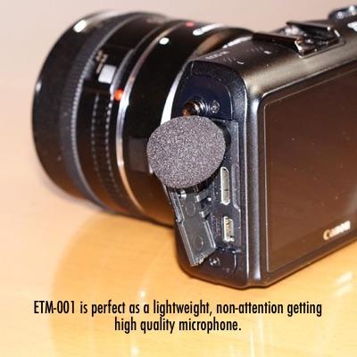 ETM-001external microphone for GoPro & DSLR or mirrorless cameras 4
