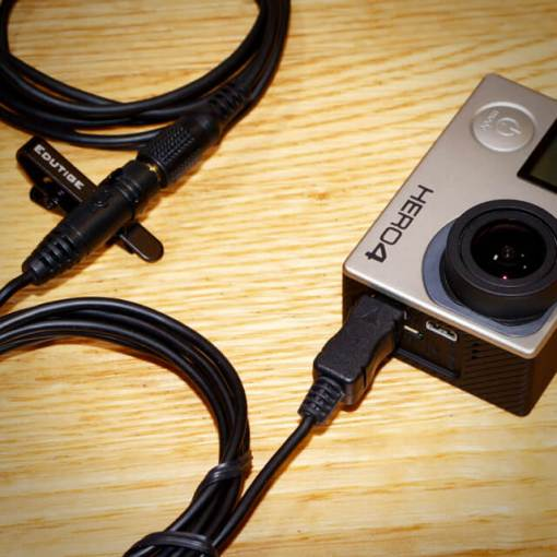 How to connect external microphone to GoPro