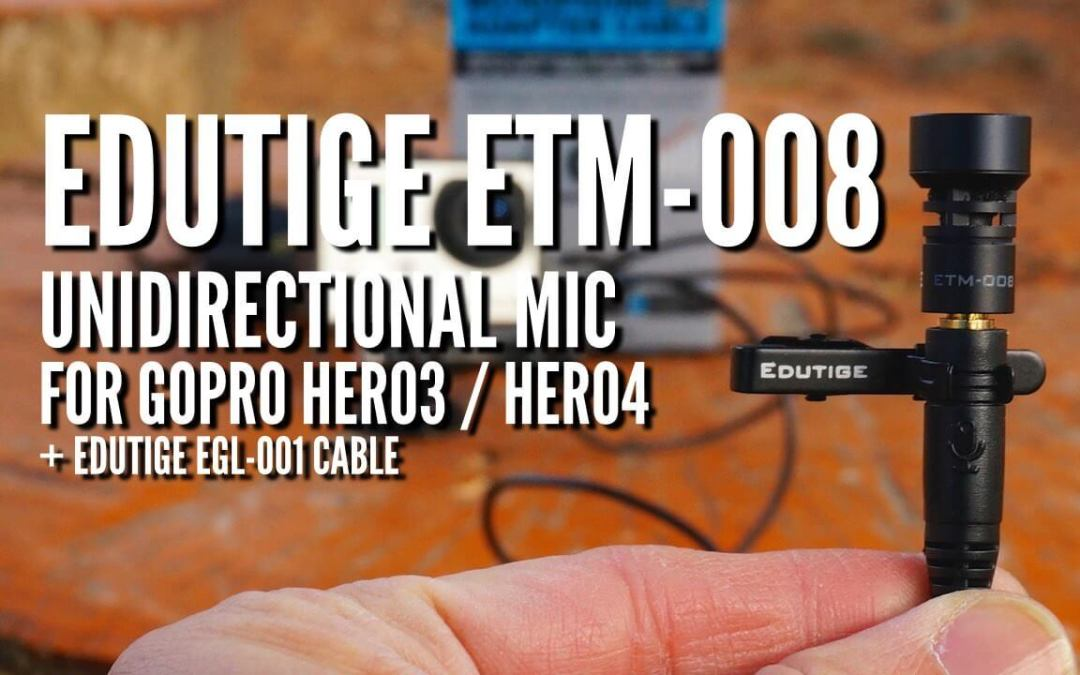 How well does the Edutige ETM-008 unidirectional microphone work with a GoPro?