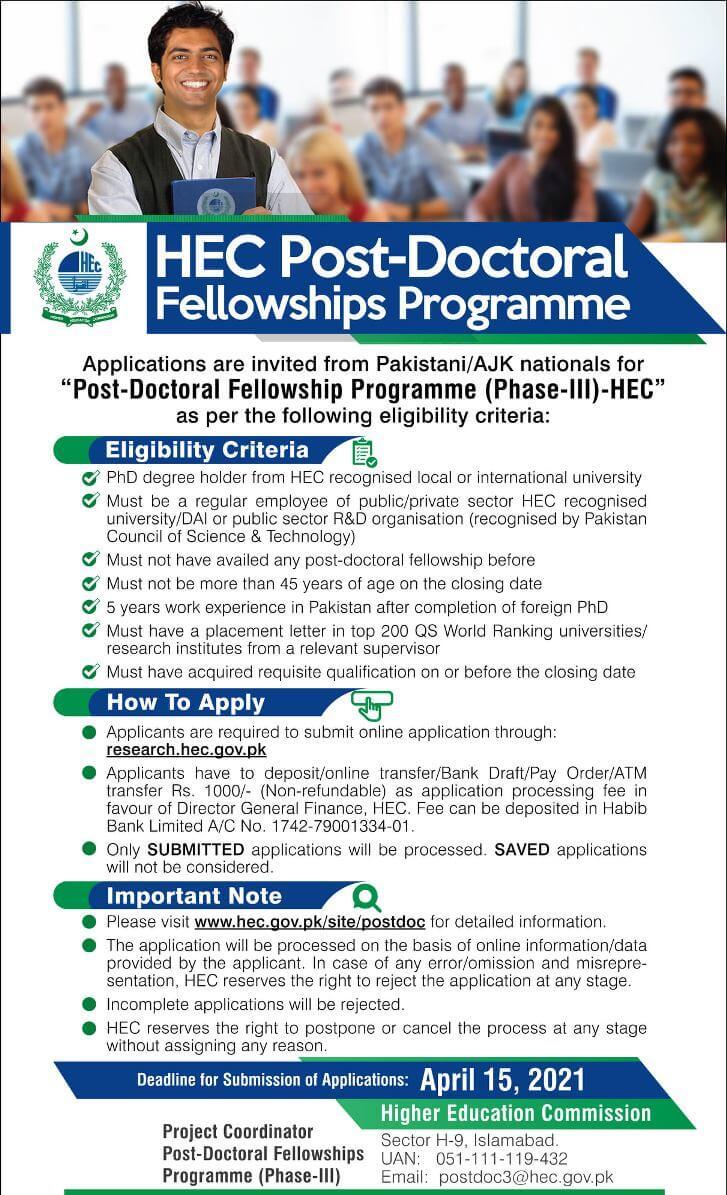 Hec Post Doctoral Fellowship Program