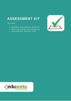 Assessment Kit - SITHIND001 - Use hygienic practice for hospitality service