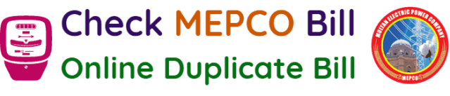 Check MEPCO Bill Online MEPCO Duplicate Bill