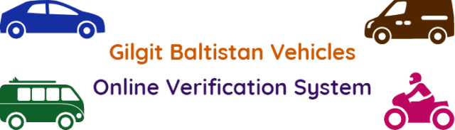 Verify Gilgit Baltistan Vehicles Online Verification System