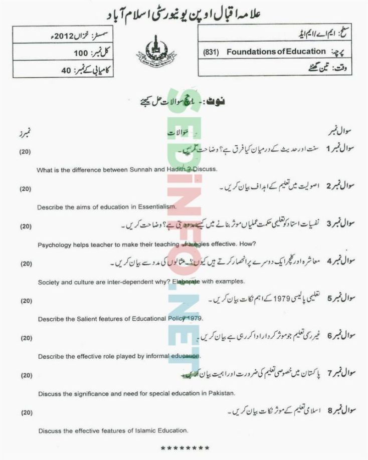 AIOU-MEd-Code-831-Past-Papers-Autumn-2012