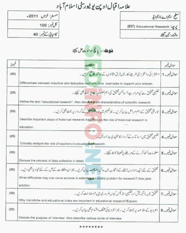 AIOU-MEd-Code-837-Past-Papers-Autumn-2011