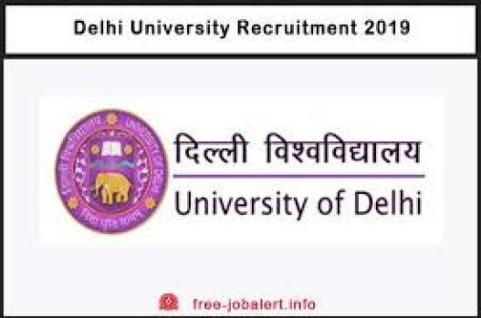 Delhi University Jobs 2019