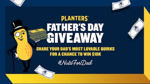 Planters Nuts for Dad Social Sweepstakes