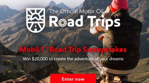 Mobil 1 Road Trip Sweepstakes