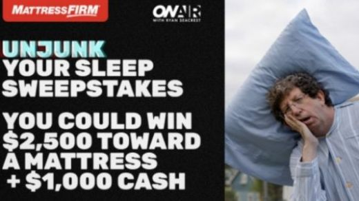 On Air with Ryan Seacrest Mattress Firm Unjunk Your Sleep Sweepstakes