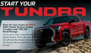 NASCAR Toyota Start Your Tundra Sweepstakes