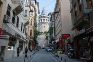 Galata Toren / Istanboel / Turkije