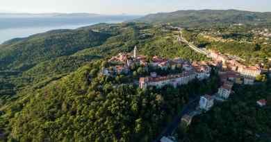 Camping in Croatia near Labin in Rabac.