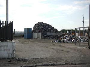 English: Scrap Metal yard, White Lund One of t...