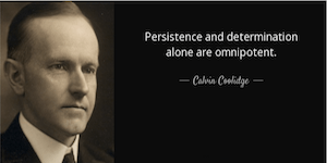 Calvin Coolidge: Determination, Not Genius, Drives Innovation