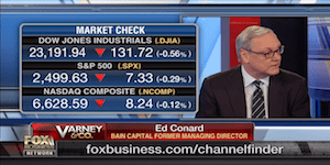 "Ed Conard discusses the stock market and the state of the economy with Stuart Varney on n Fox Business Network's ""Varney & Co""."