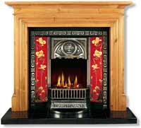 The Tulip Fireplace Insert Art Nouveau Style Fireplace