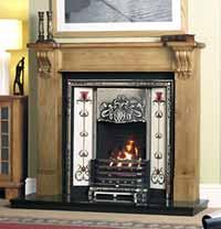 The Oxford Fireplace Insert  Art Nouveau Style Fireplace