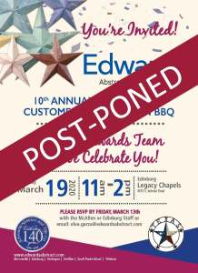 POST-PONED: 10th Annual Texas Proud Customer Appreciation BBQ