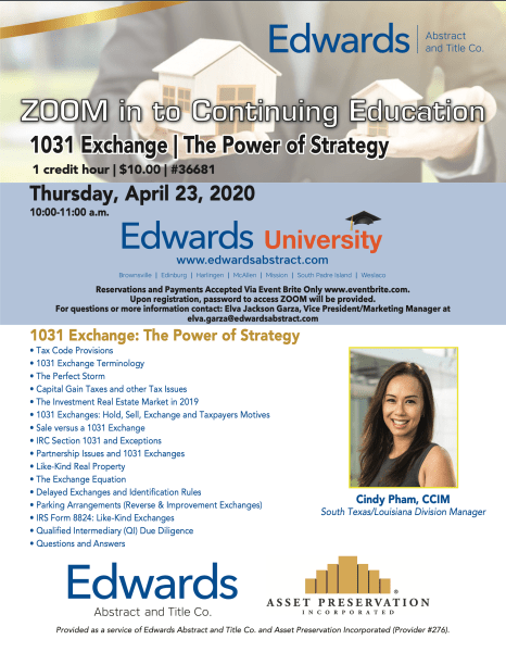 Zoom in to Continuing Education: April 23rd