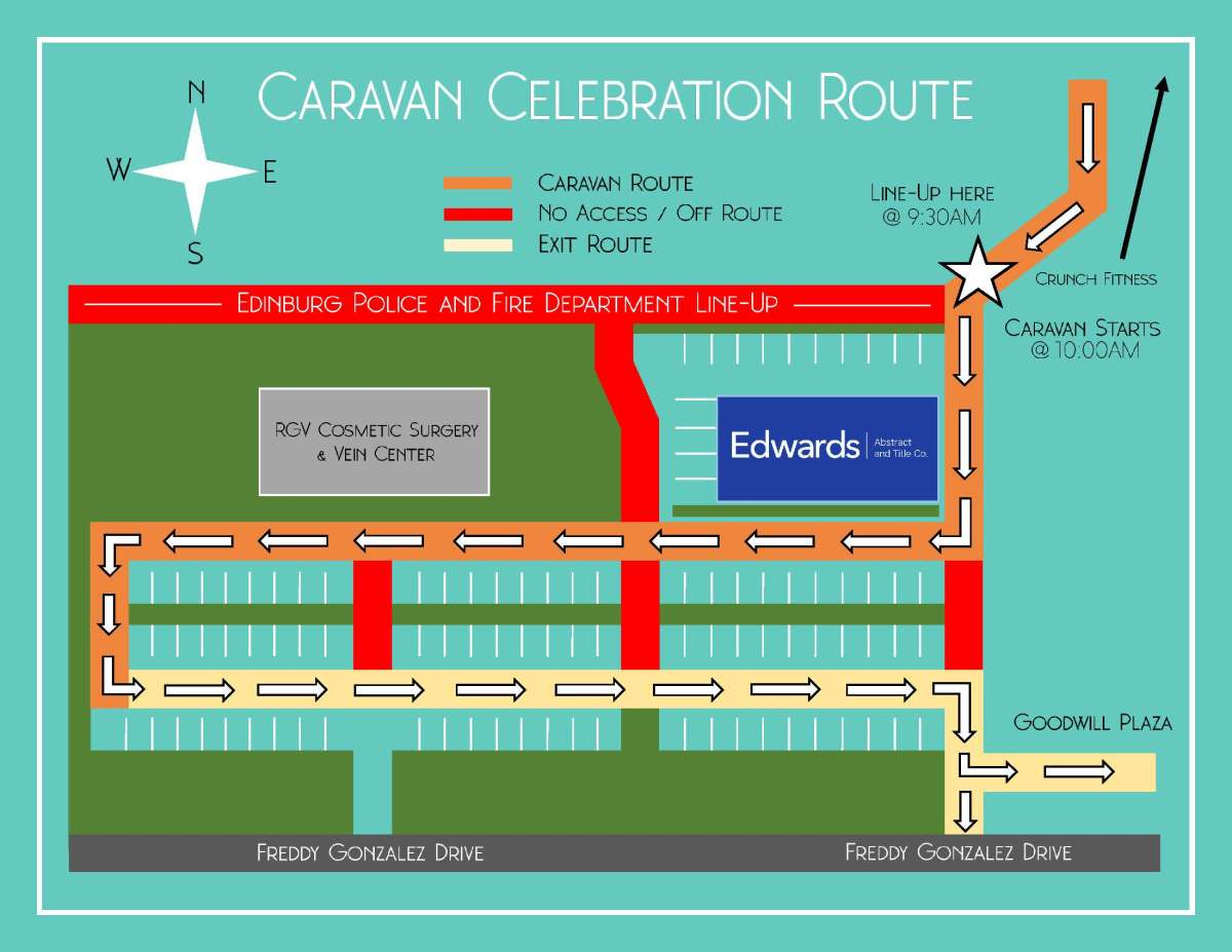 140th Anniversary Caravan Route