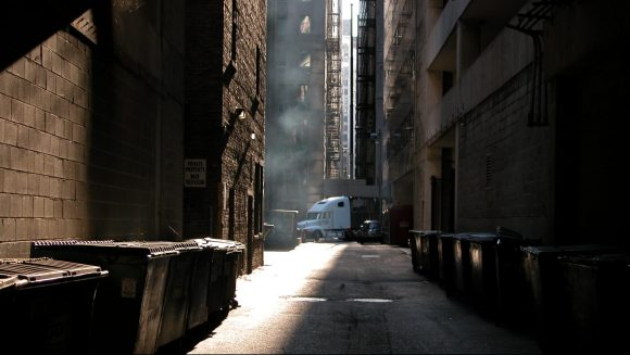Truck in a Back Alley