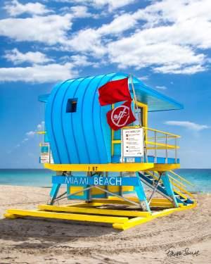 Lifeguard Tower 1 St Left Side Portrait