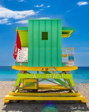 Lifeguard Tower 4 St Straight Portrait