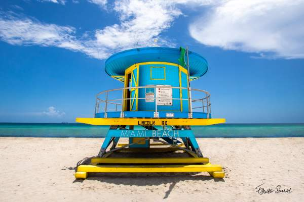 Lifeguard Tower Lincoln Rd Straight Landscape