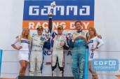 Podium Super GT divisie - Henry Zumbrink - Jeffrey van Hooydonk - Berry van Elk - Supercar Challenge - Gamma Racing Day TT-Circuit Assen