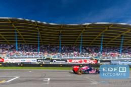 Max Verstappen Toro Rosso Formule 1 demo tijdens de Gamma Racing Day op TT-Circuit Assen