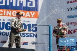 Pieter de Jong - Kim Troeijen - Champagne - Podium - Supercar Challenge - Gamma Racing Day TT-Circuit Assen