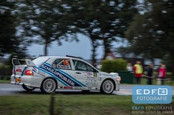 Ernst Kranenburg - Peter van Teunenbroek - Mitsubishi Lancer EVO 8 - Unica Schutte ICT Hellendoorn Rally 2015