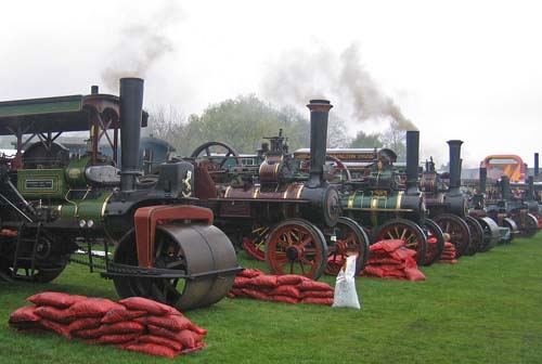Traction Engines at May Day Steam Rally - Flixton