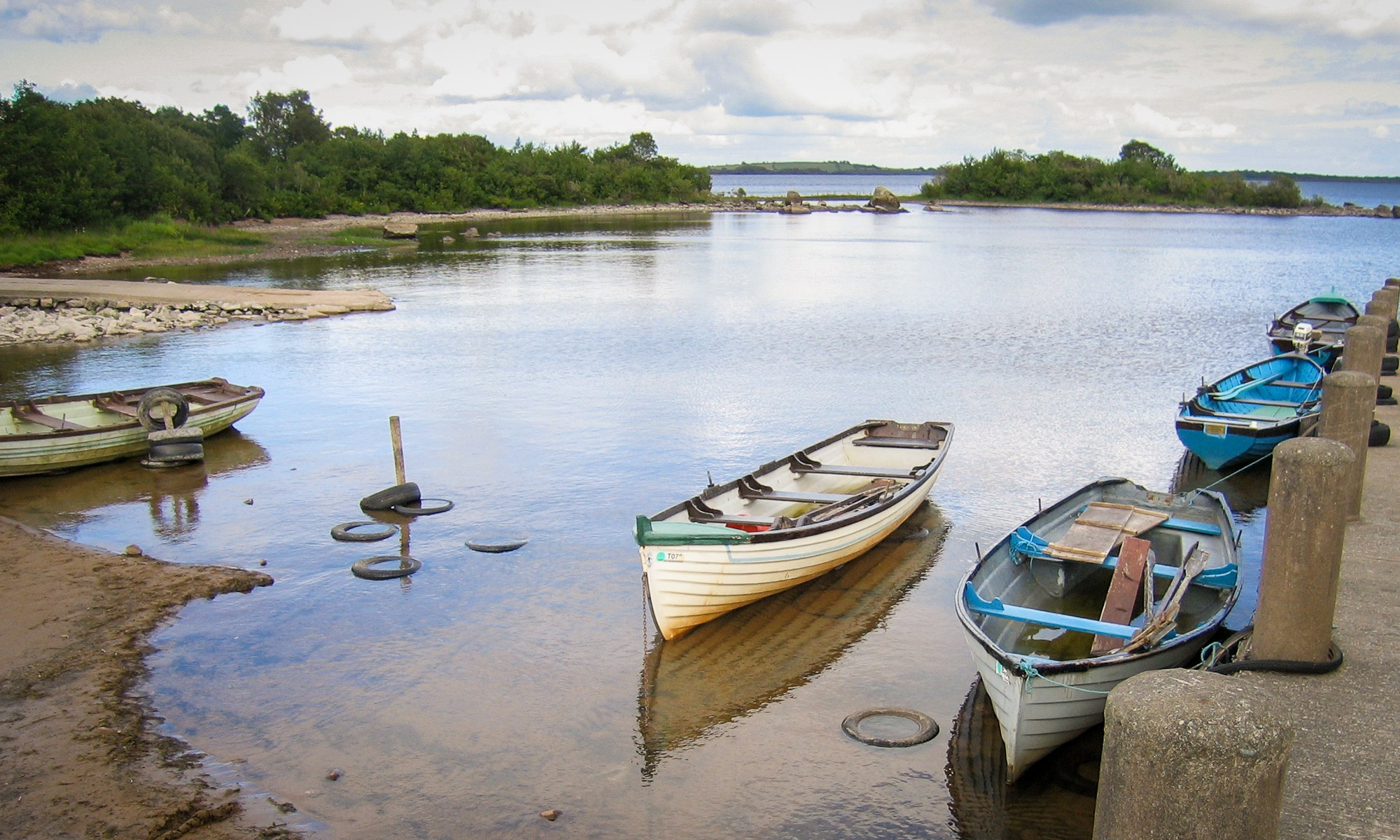 Fishing Boats on the shore of Lough Mask, Ireland