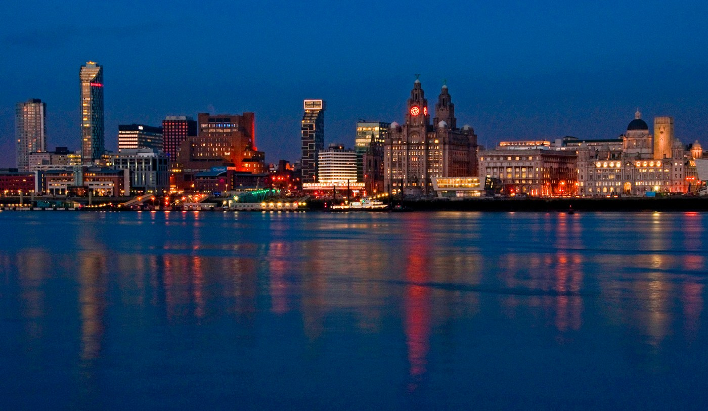 Liverpool Skyline over the River Mersey
