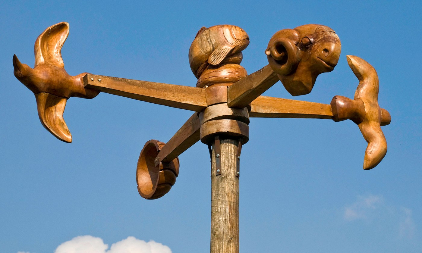 Carved Wooden Anemometer