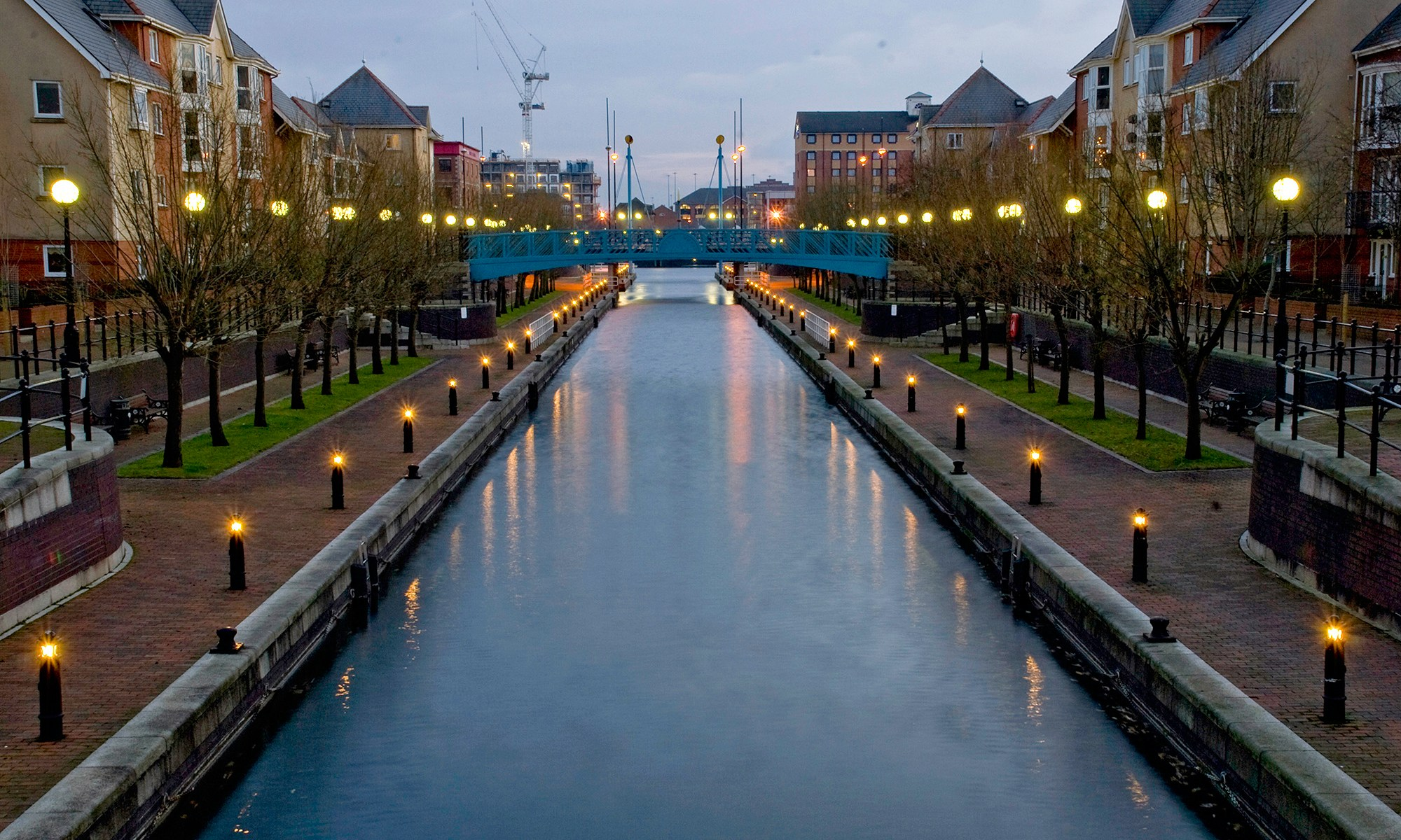 Mariners Canal at Dusk, Salford Quays
