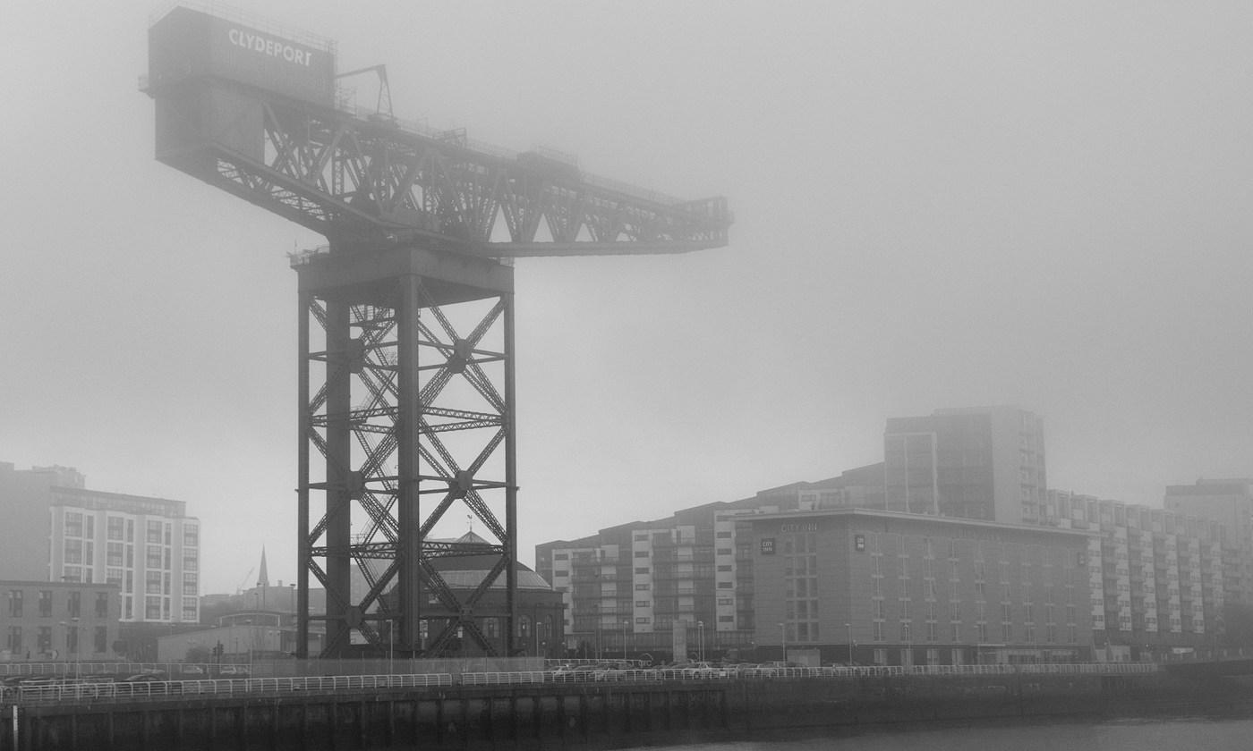 Finnieston Crane in the Mist, Glasgow