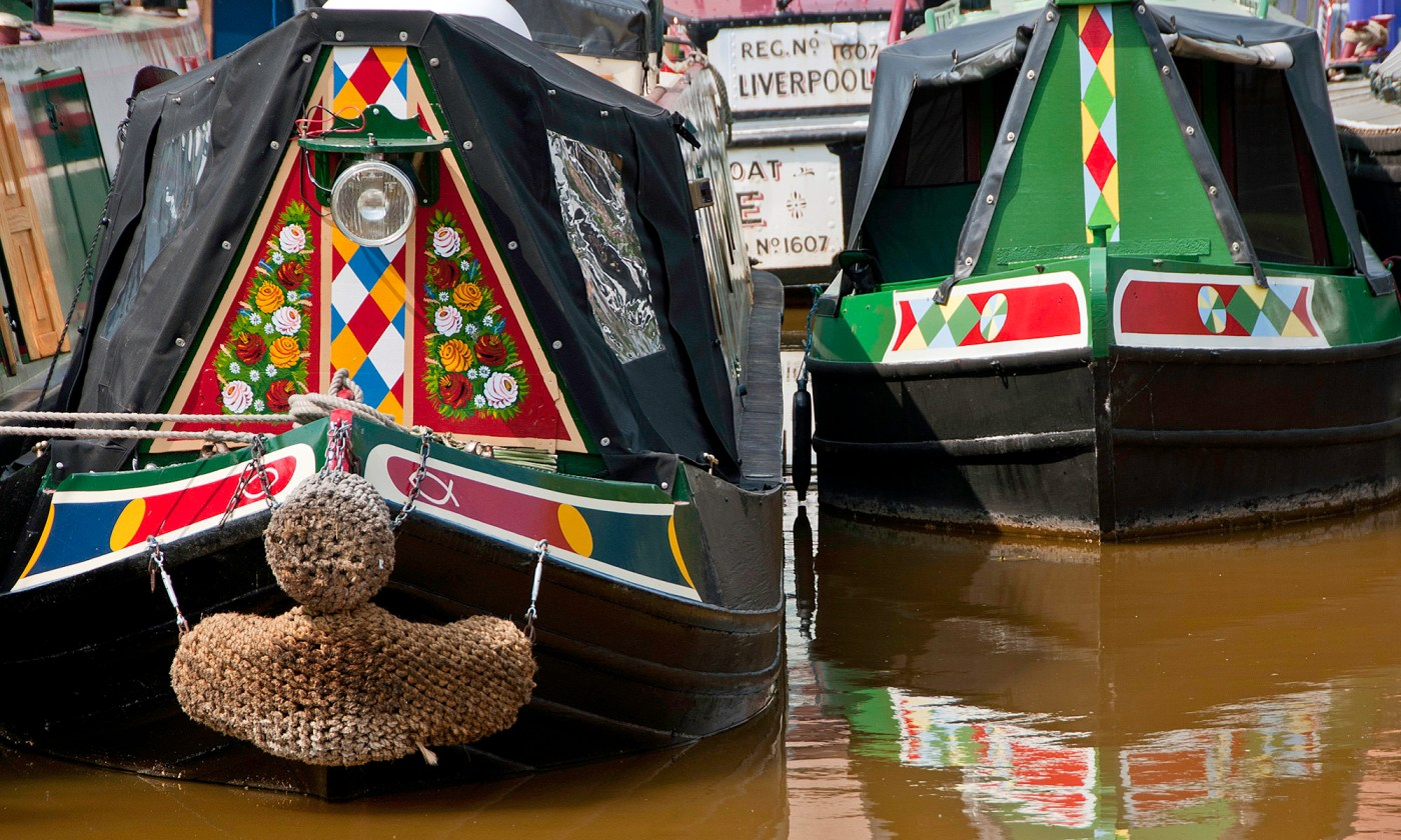 Canal Barge Details at Worsley