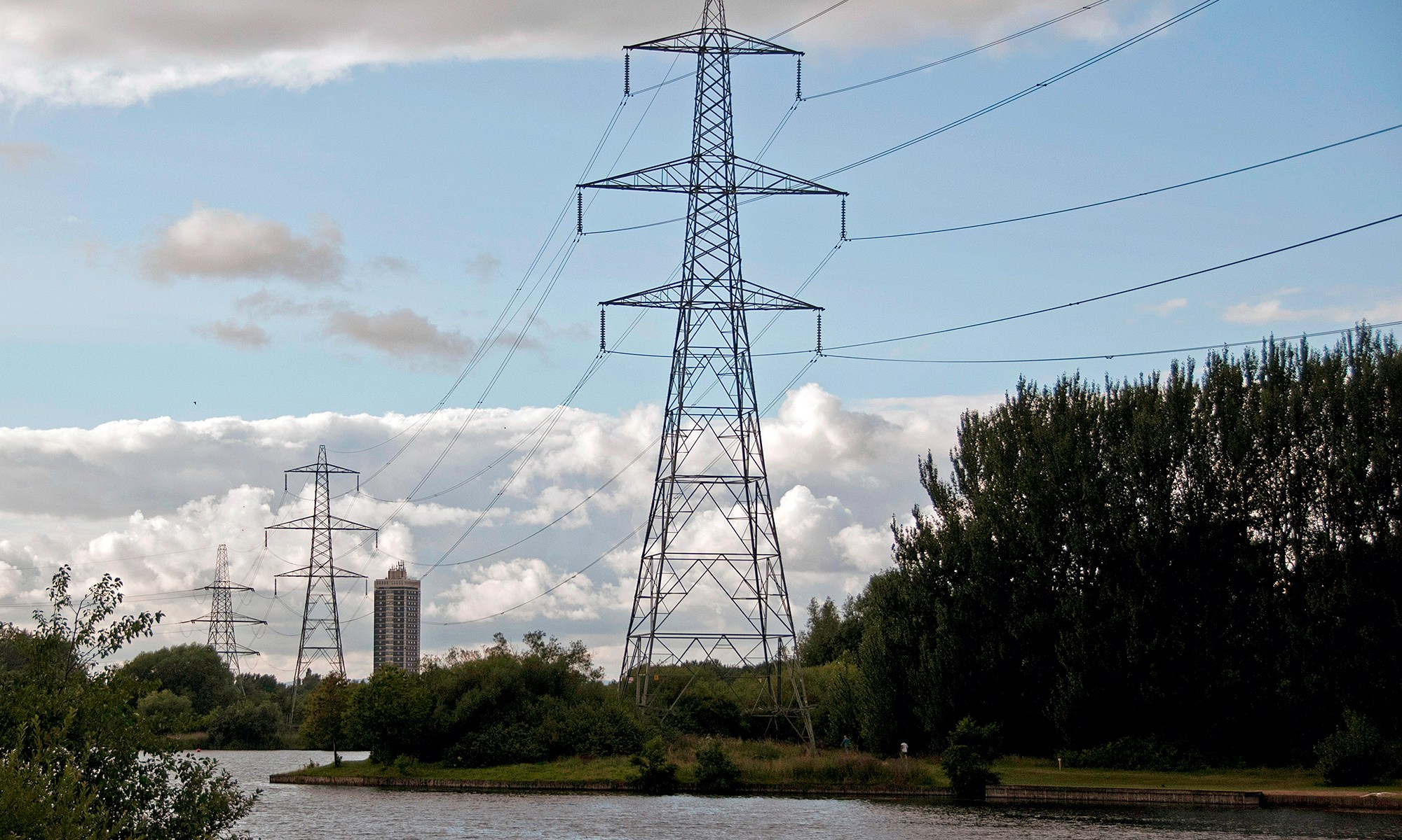 Electricity Pylons at Sale Water Park