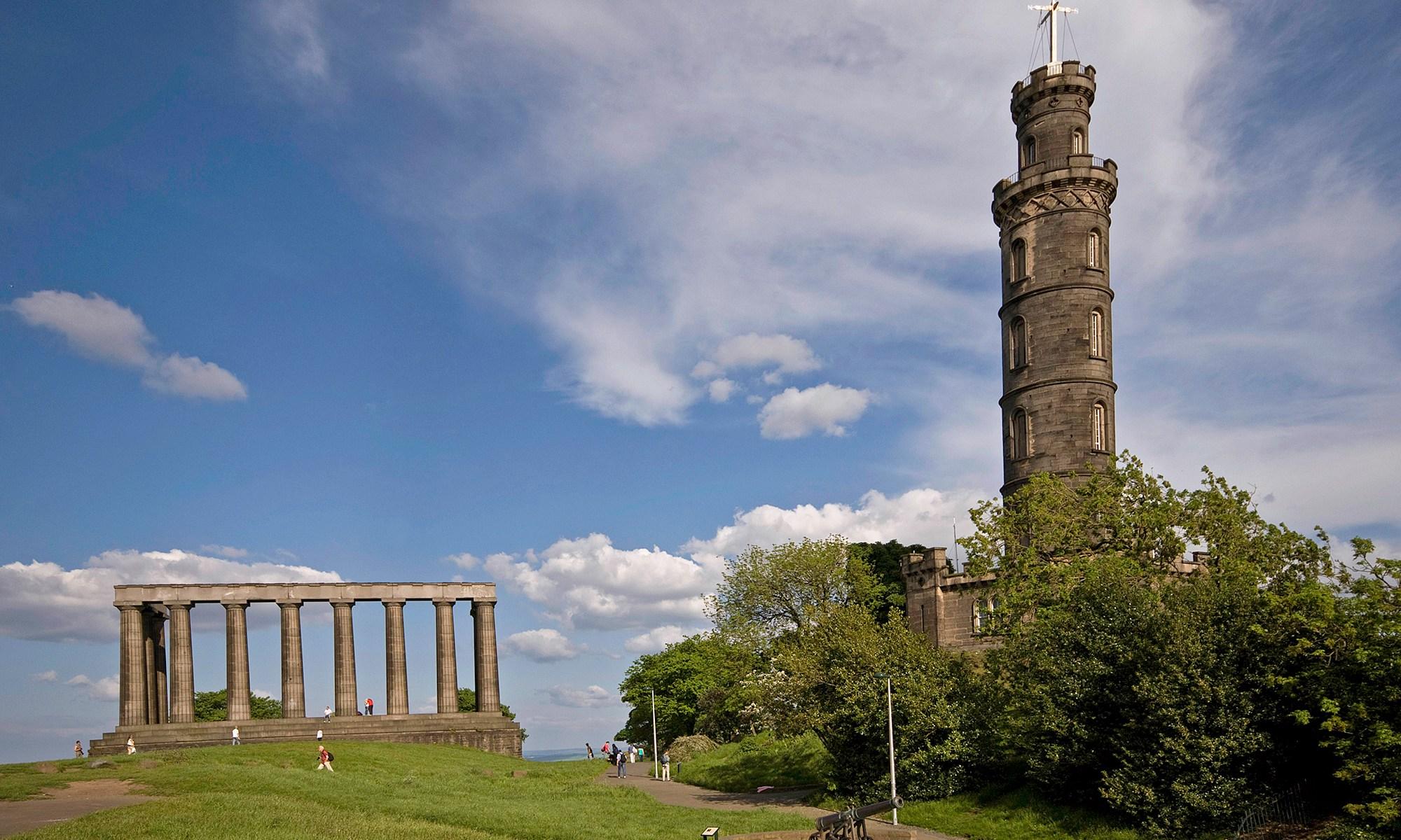 Edinburgh Monument and Nelson's Monument