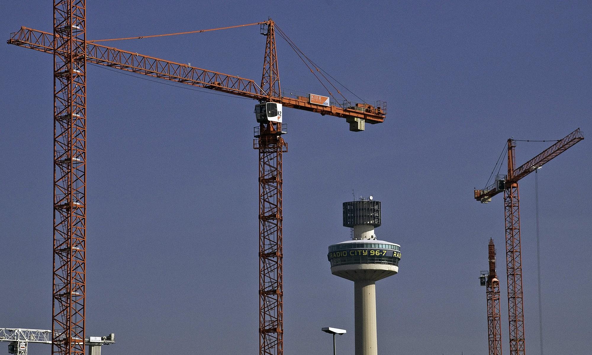 Cranes over Liverpool City Centre