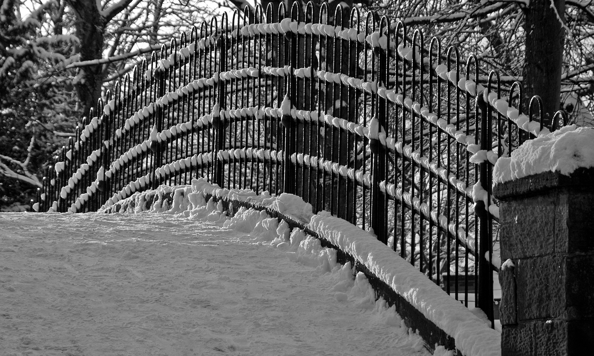 Foot Bridge in the Snow