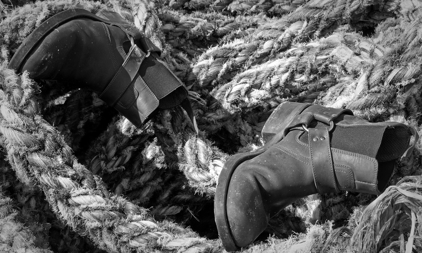 Old Boots on Rope
