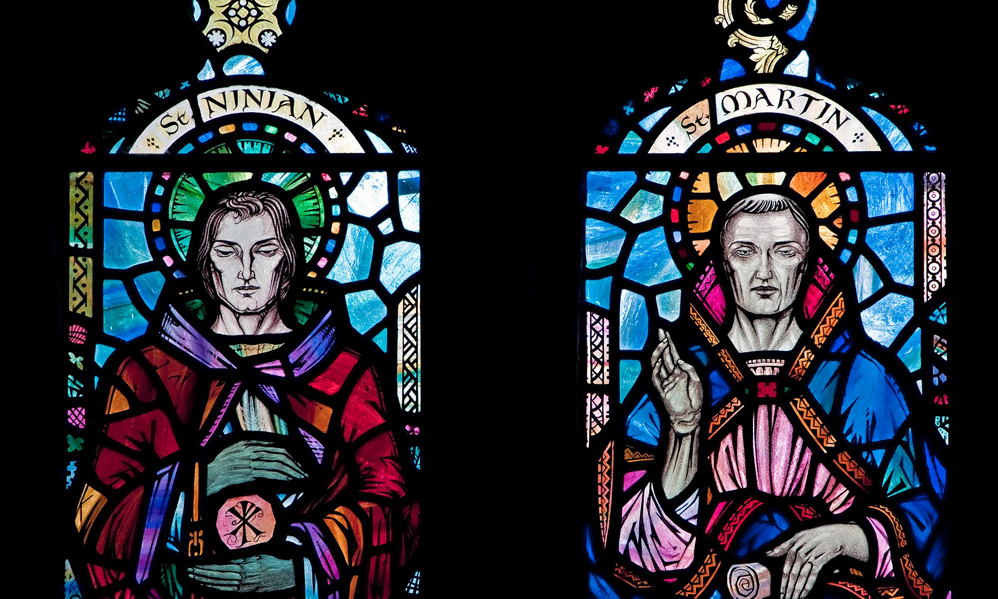 St Ninian and St Michael Stained Glass