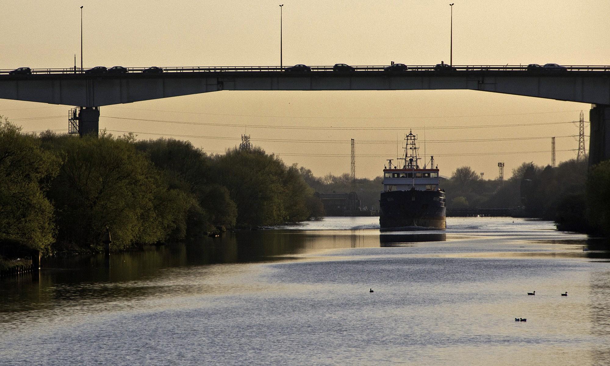 Manchester Ship Canal under Barton Bridge