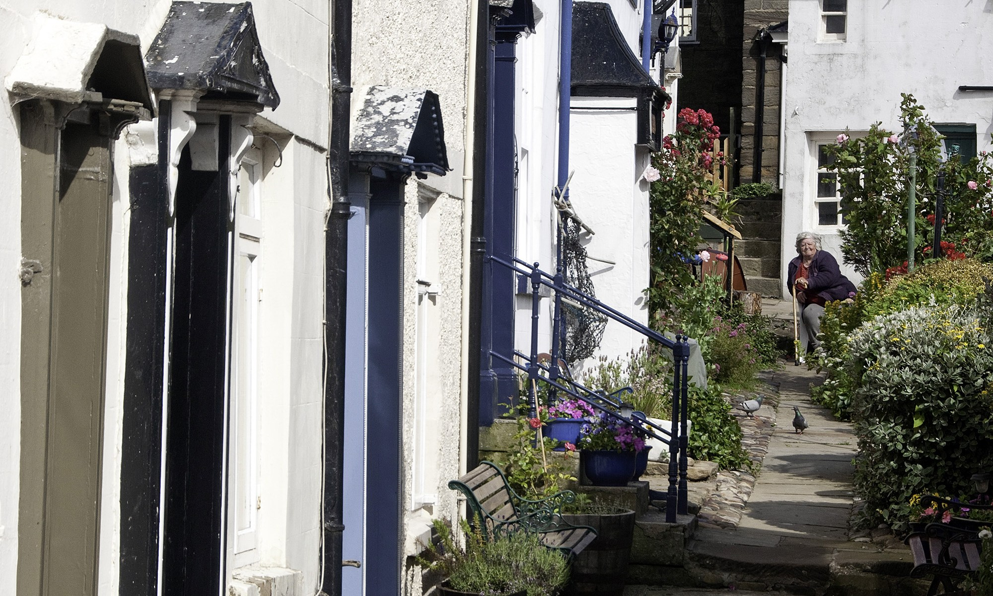 The narrow streets of Staithes